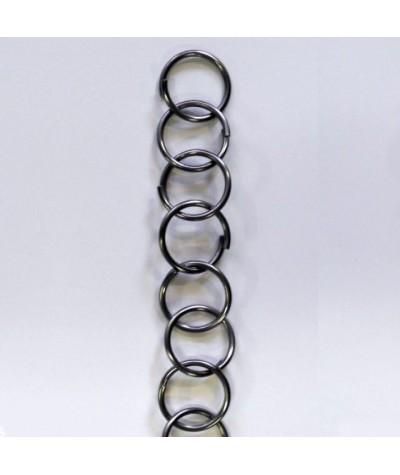 Cadena de acier inoxidable con grandes anillos