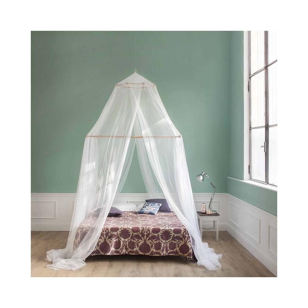 TINA Mosquitera para cama matrimonial - cuatro aberturas