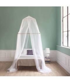 TINA Moustiquaire pour lit une place et demi - quatre ouvertures