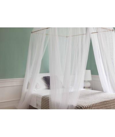 TINA Mosquitera para cama de una plaza y media - cuatro aberturas