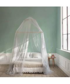 TINA lurex argento - Zanzariera per letto matrimoniale - 4 aperture