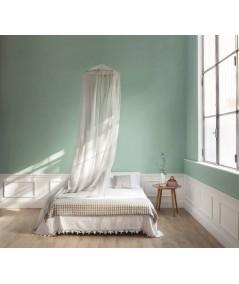 TINA Lurex Silber - Moskitonetz für Doppelbett - vier Öffnungen