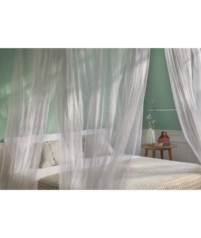 TINA Lurex Prata - Mosquiteiro para cama king size - quatro aberturas