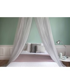 TINA Lurex Silver - Mosquito Net for Queen Size Bed - four Openings
