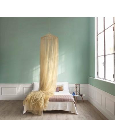 TINA Lurex Or - Moustiquaire pour lit double - quatre ouvertures