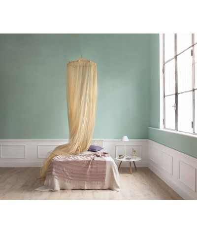 TINA Lurex Gold - Mosquito Net for Queen Size Bed - four Openings