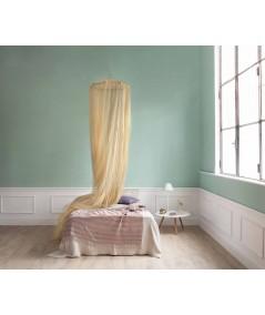 TINA Lurex Gold - Moskitonetz für Französisches Bett - vier Öffnungen